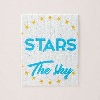 Puzzle Les étoiles laissées allument le ciel