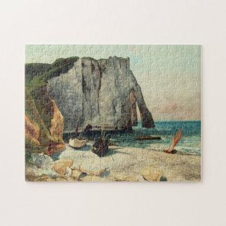 Puzzle Les falaises d'Etretat, le port d'Avale