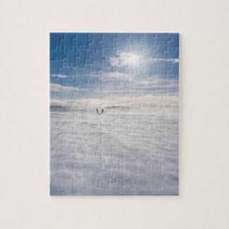 Puzzle Les gens marchant au-dessus de la neige, Islande