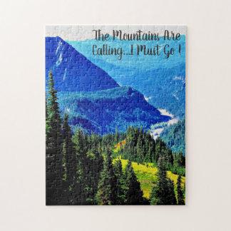 """Puzzle Les montagnes appellent, déconcertent 11"""" x 14"""","""