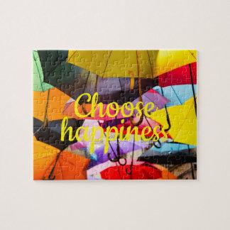 Puzzle Les parapluies colorés //choisissent le bonheur