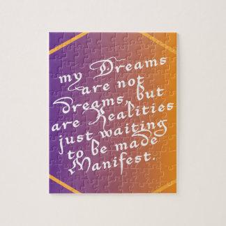 Puzzle Les rêves sont des réalités attendant pour être