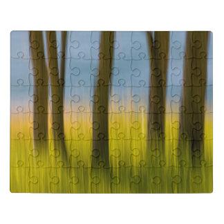 Puzzle Les troncs d'arbre et engazonnent les îles de  