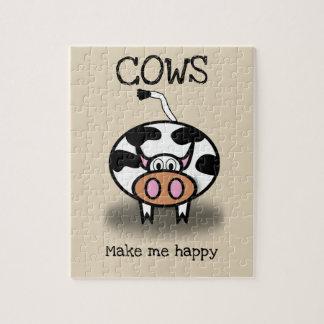 Puzzle Les vaches me rendent heureux