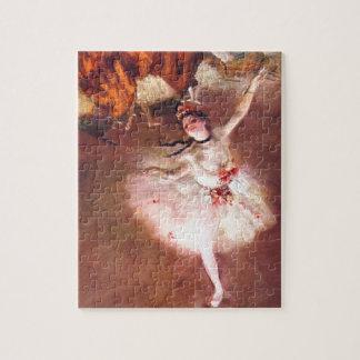 Puzzle L'étoile (danseur sur l'étape) par Edgar Degas