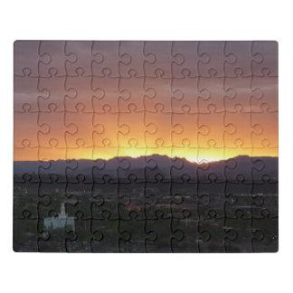 Puzzle Lever de soleil au-dessus de paysage de St George