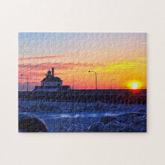 Puzzle Lever de soleil de phare de Duluth Minnesota