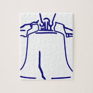 Puzzle Liberty Bell bleu