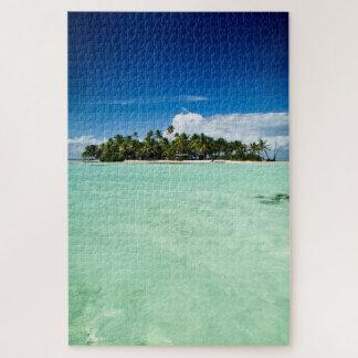Puzzle L'Île déserte Pacifique avec des palmiers