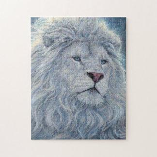 Puzzle Lion blanc