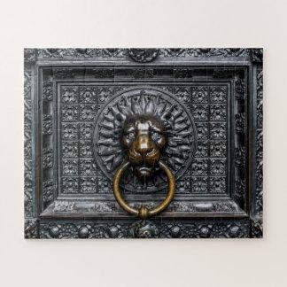 Puzzle Lion de heurtoir - noir/or
