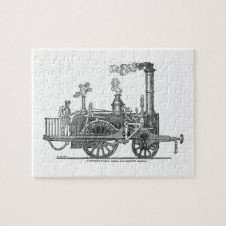 Puzzle Locomotive tôt de train de vapeur