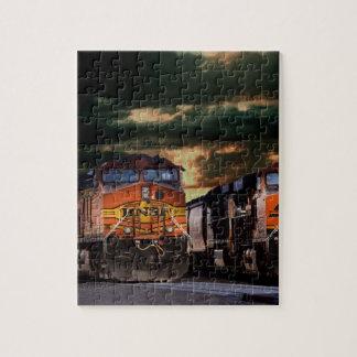 Puzzle Locomotives puissantes prêtes à transporter