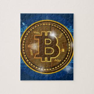 Puzzle Logo de Bitcoin et conception frais de graphique