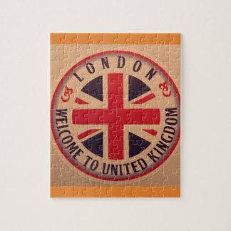 Puzzle Londres - Union Jack - accueil vers le Royaume-Uni