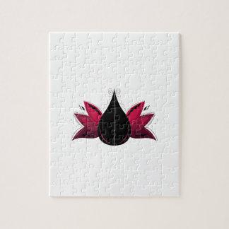 Puzzle Lotus sur le blanc