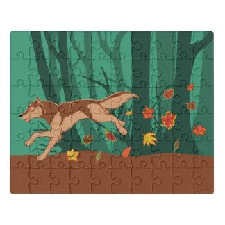 Puzzle Loup d'automne