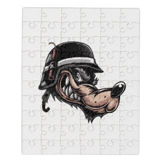 Puzzle Loup de bande dessinée avec de la dynamite sur son