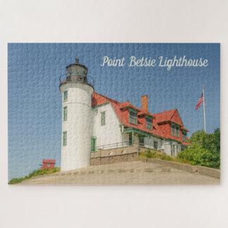 Puzzle Lumière du soleil sur le phare de Betsie de point
