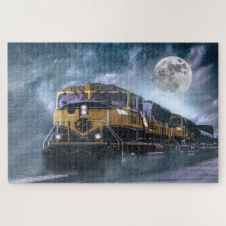 Puzzle Lune locomotive et pleine