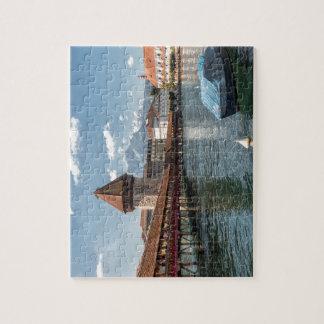 Puzzle Luzerne de pont de chapelle, Suisse