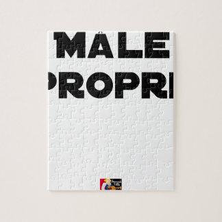 Puzzle MÂLE-PROPRE - Jeux de mots - Francois Ville