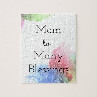 Puzzle Maman à beaucoup de bénédictions