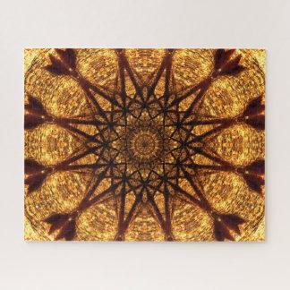 Puzzle Mandala d'or de fractale des étoiles  