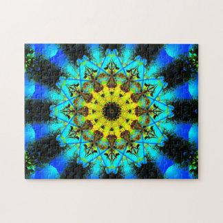 Puzzle Mandala en forme d'étoile très détaillé
