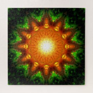 Puzzle Mandala orange du noyau | d'énergie