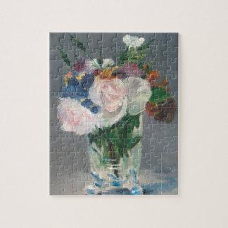 Puzzle Manet | fleurit dans un vase en cristal, c.1882