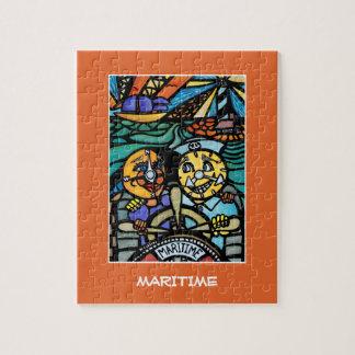 Puzzle Maritime - le temps rapièce des couleurs