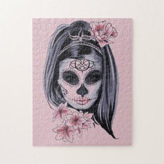 Puzzle Masque de squelette de femme