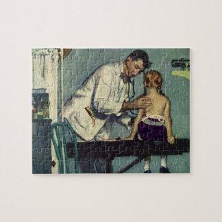 Puzzle Médecine vintage, docteur Seeing une patiente de