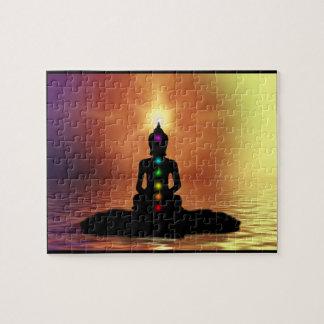 Puzzle méditant de Chakra