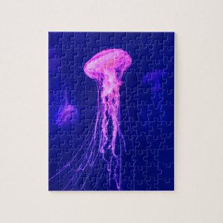 Puzzle Méduses roses au néon