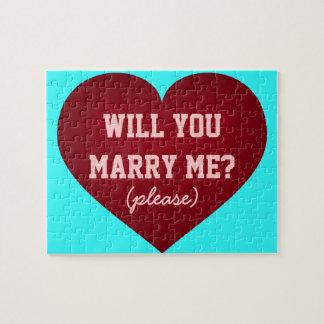 Puzzle M'épouserez-vous ? coeur cramoisi