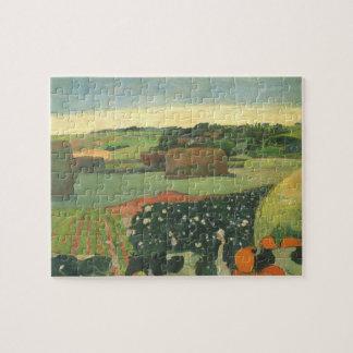 Puzzle Meules de foin en Bretagne par Paul Gauguin, art