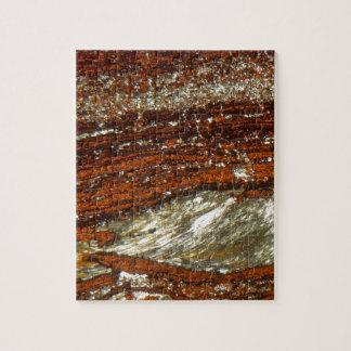 Puzzle Minerai de fer sous le microscope