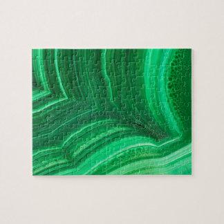 Puzzle Minerai vert clair de malachite