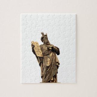 Puzzle Moïse et dix commandements d'or