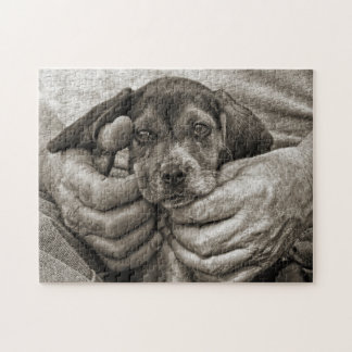 Puzzle Mon art photographique de chiot de beagle d'ami