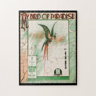 Puzzle Mon oiseau de couverture vintage de feuille de