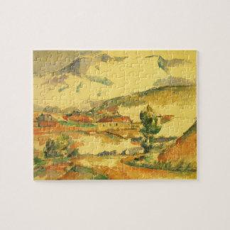 Puzzle Mont Sainte Victoire par Paul Cezanne, art vintage