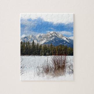 Puzzle Montagne pittoresque de cascade - Banff Alberta