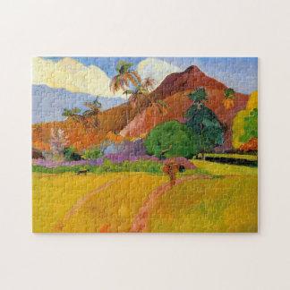 """Puzzle """"Montagnes au Tahiti"""" - Paul Gauguin"""