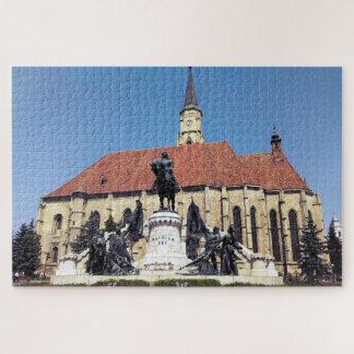 Puzzle Monument de Matthias Corvinus et église de St