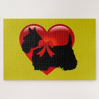 Puzzle Morceau noir du sihouette heart/1014 de Terrier