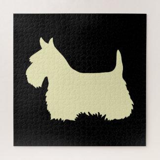 Puzzle Morceau noir du sihouette heart/676 de Terrier
