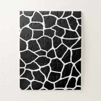 Puzzle Motif animal d'impression noir et blanc de girafe